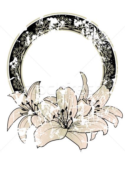 フローラル フレーム ユリ ベクトル 花 ユリ ストックフォト © tanais