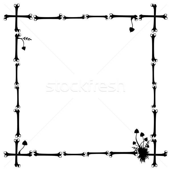 フレーム キノコ 骨 ベクトル 黒白 色 ストックフォト © tanais
