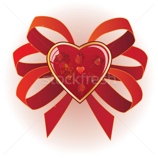 Coeur roses Valentin eps 10 amour Photo stock © tanais