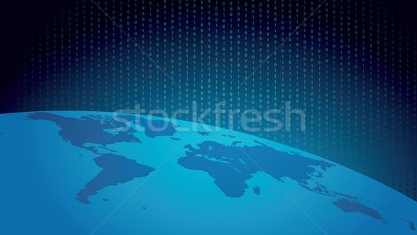 Digitale wereld breedbeeld abstract illustratie business Stockfoto © tanais