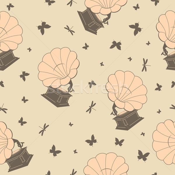 Sin costura vector mariposas mariposa retro decoración Foto stock © tanais