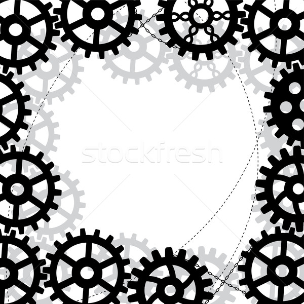 gears frame Stock photo © tanais