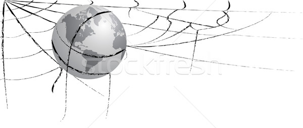 earth entangled in spiderweb Stock photo © tanais