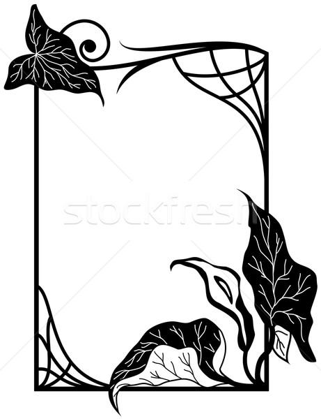 Virágmintás keret vektor stilizált liliom virágok Stock fotó © tanais
