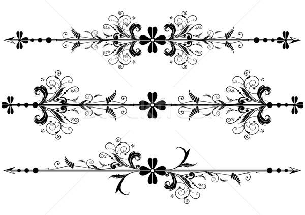 vector vignette with clover Stock photo © tanais