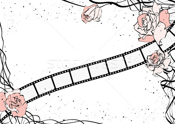 roses and film strip  Stock photo © tanais