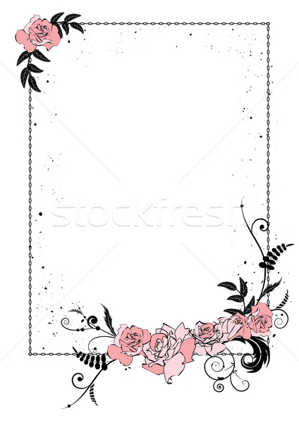 floral frame with chain Stock photo © tanais