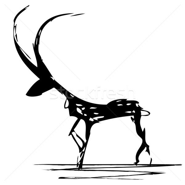 Vektör stilize örnek siyah beyaz renkler sanat Stok fotoğraf © tanais