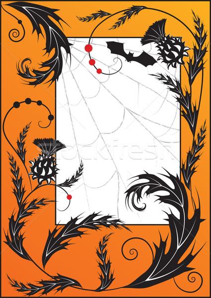 thistle, spiderweb  and bat Stock photo © tanais