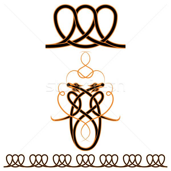Ayarlamak Kelt desen vektör Stok fotoğraf © tanais