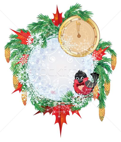 Christmas frame Stock photo © tanais
