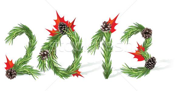 Capodanno 2013 Natale albero decorazione bianco Foto d'archivio © tanais