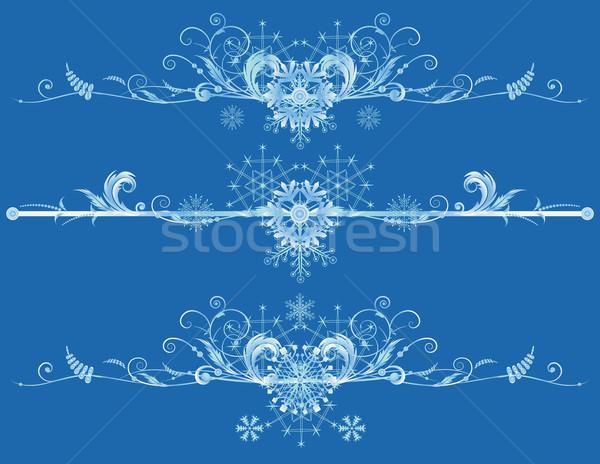 Capodanno set vettore Natale fiocchi di neve Foto d'archivio © tanais