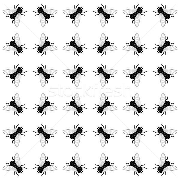 シームレス ベクトル 黒白 色 自然 黒 ストックフォト © tanais