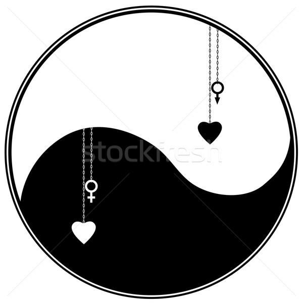 Symbool vector hart sterrenkundig teken abstract Stockfoto © tanais