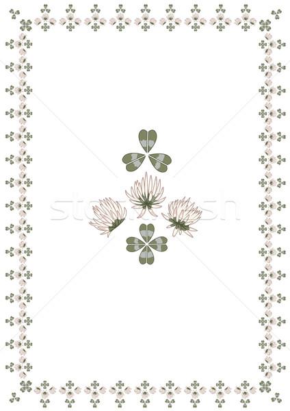 clover frame Stock photo © tanais