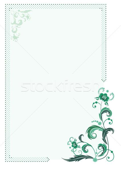 green floral frame Stock photo © tanais