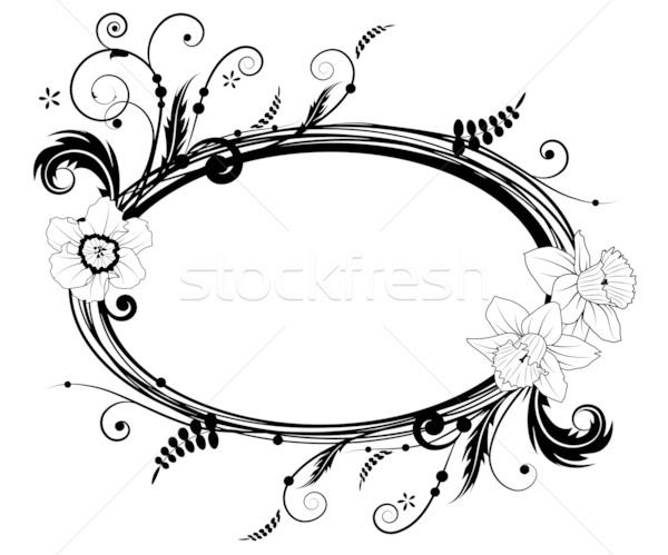 floral frame Stock photo © tanais