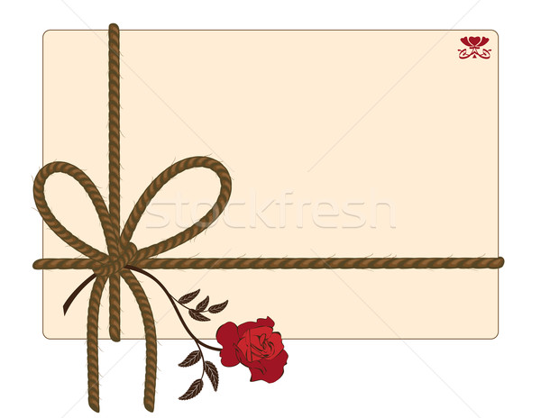 background with rope and rose Stock photo © tanais