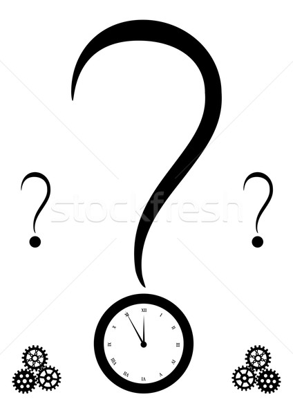 query mark and clock Stock photo © tanais