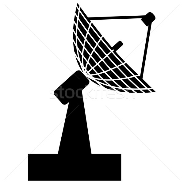 Stockfoto: Radar · illustratie · zwart · wit · kleur · abstract · technologie