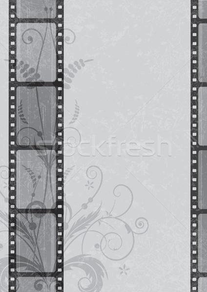 Filmszalag virág divat absztrakt film háttér Stock fotó © tanais