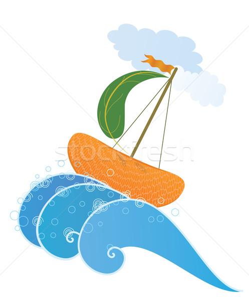 orange ship Stock photo © tanais