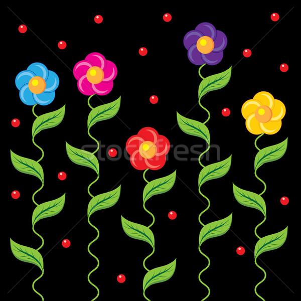 floral fringe Stock photo © tanais