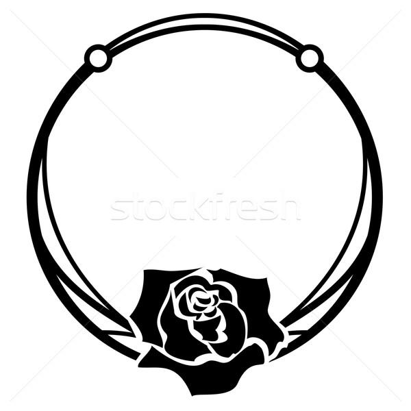 Steeg frame vector zwart wit kleuren achtergrond Stockfoto © tanais