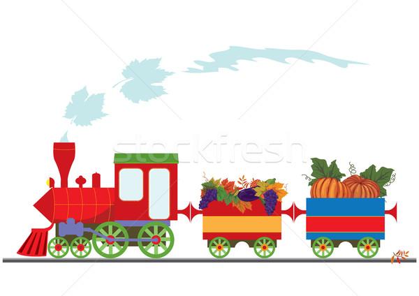 ретро локомотив виноград модель Сток-фото © tanais