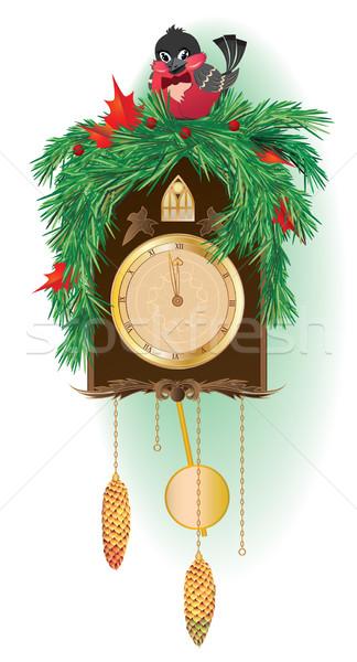 Christmas clock Stock photo © tanais