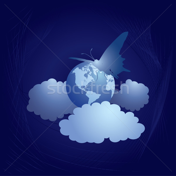 earth and butterfly (Western Hemisphere) Stock photo © tanais