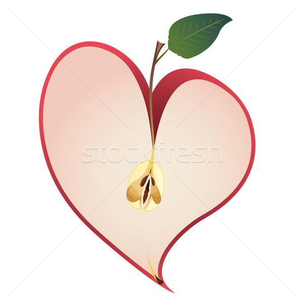 リンゴ 中心 デザイン ピンク 休日 ベクトル ストックフォト © tanais