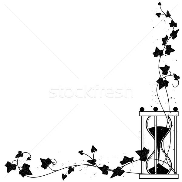 ツタ ベクトル コーナー デザイン 葉 背景 ストックフォト © tanais