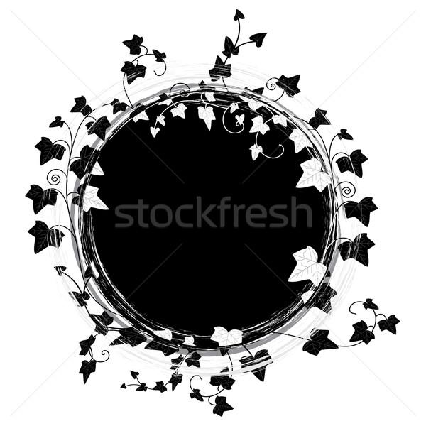 ivy round frame Stock photo © tanais
