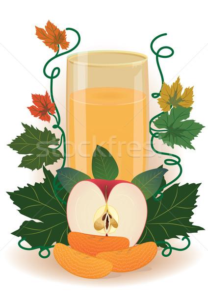 Gyümölcslé üveg eps 10 alma gyümölcs Stock fotó © tanais