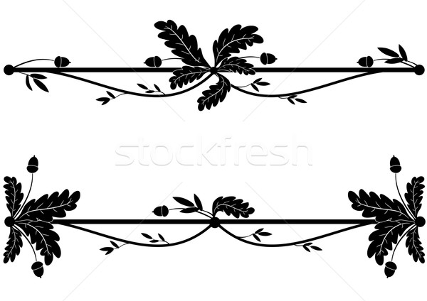oak vignettes Stock photo © tanais