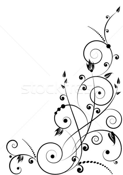 Model siyah renk çim dizayn Stok fotoğraf © tanais