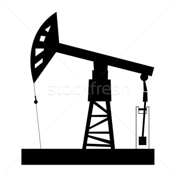 буровая иллюстрация нефть черный завода компания Сток-фото © tanais