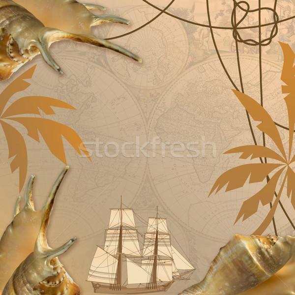 sea travel background Stock photo © tanais