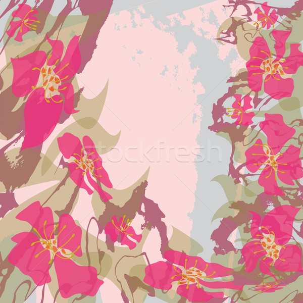 pink flowers Stock photo © tanais