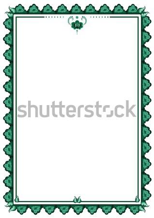 Quadro estilizado flor do vetor flor verde cores Foto stock © tanais