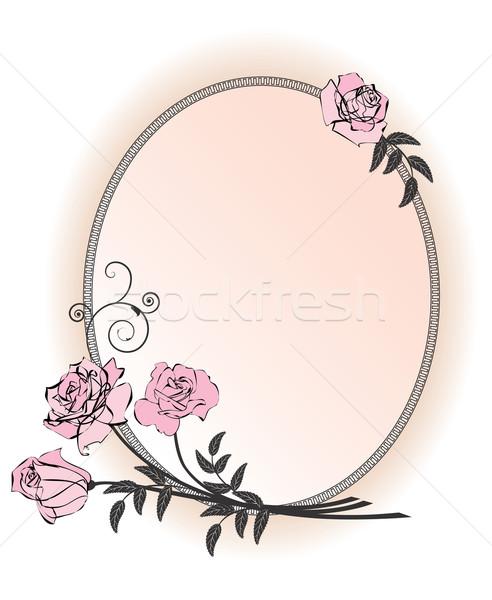 バラ ベクトル フレーム ピンク 結婚式 ストックフォト © tanais