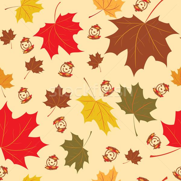 Warm najaar naadloos bladeren esdoorn Stockfoto © tanais