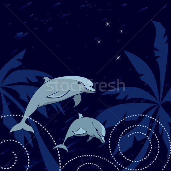 дельфины южный крест путешествия ладонями небе Сток-фото © tanais