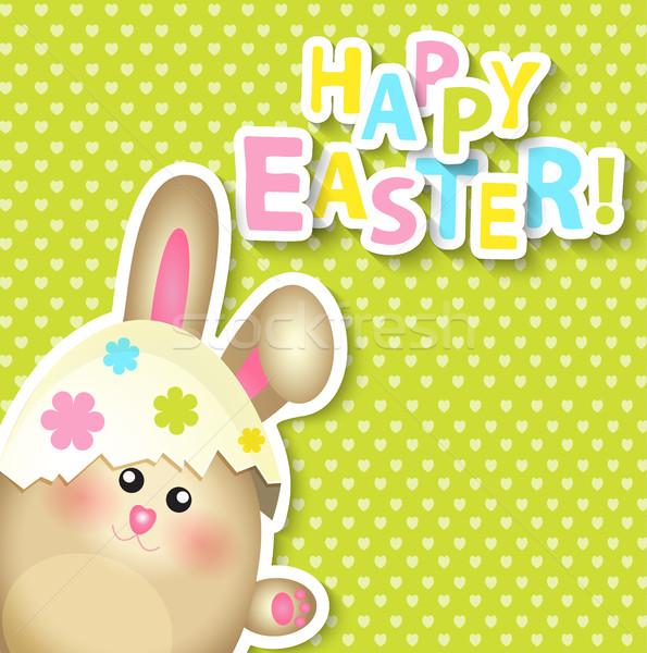 Христос воскрес кролик дизайна яйцо фон Сток-фото © tandaV