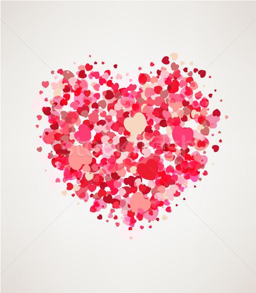 счастливым карт сердцах свет Сток-фото © tandaV