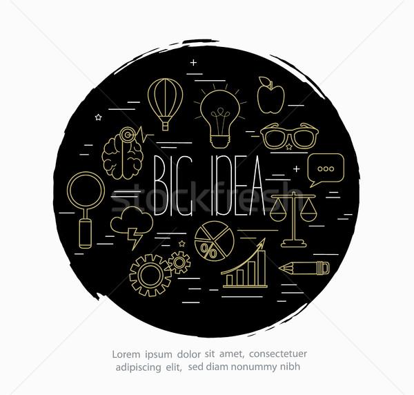 ビッグ アイデア 行 スタイル デザイン 抽象的な ストックフォト © tandaV