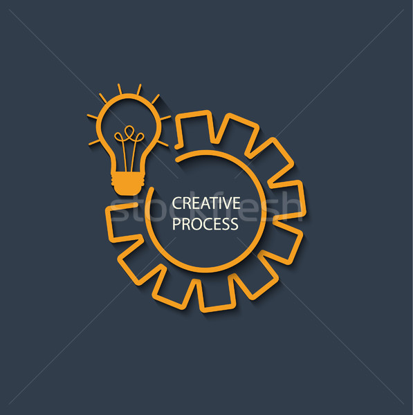 вектора запуска стиль логотип Creative процесс Сток-фото © tandaV