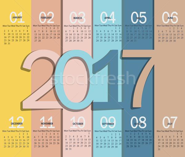 Calendar for 2017, vector. Stock photo © tandaV